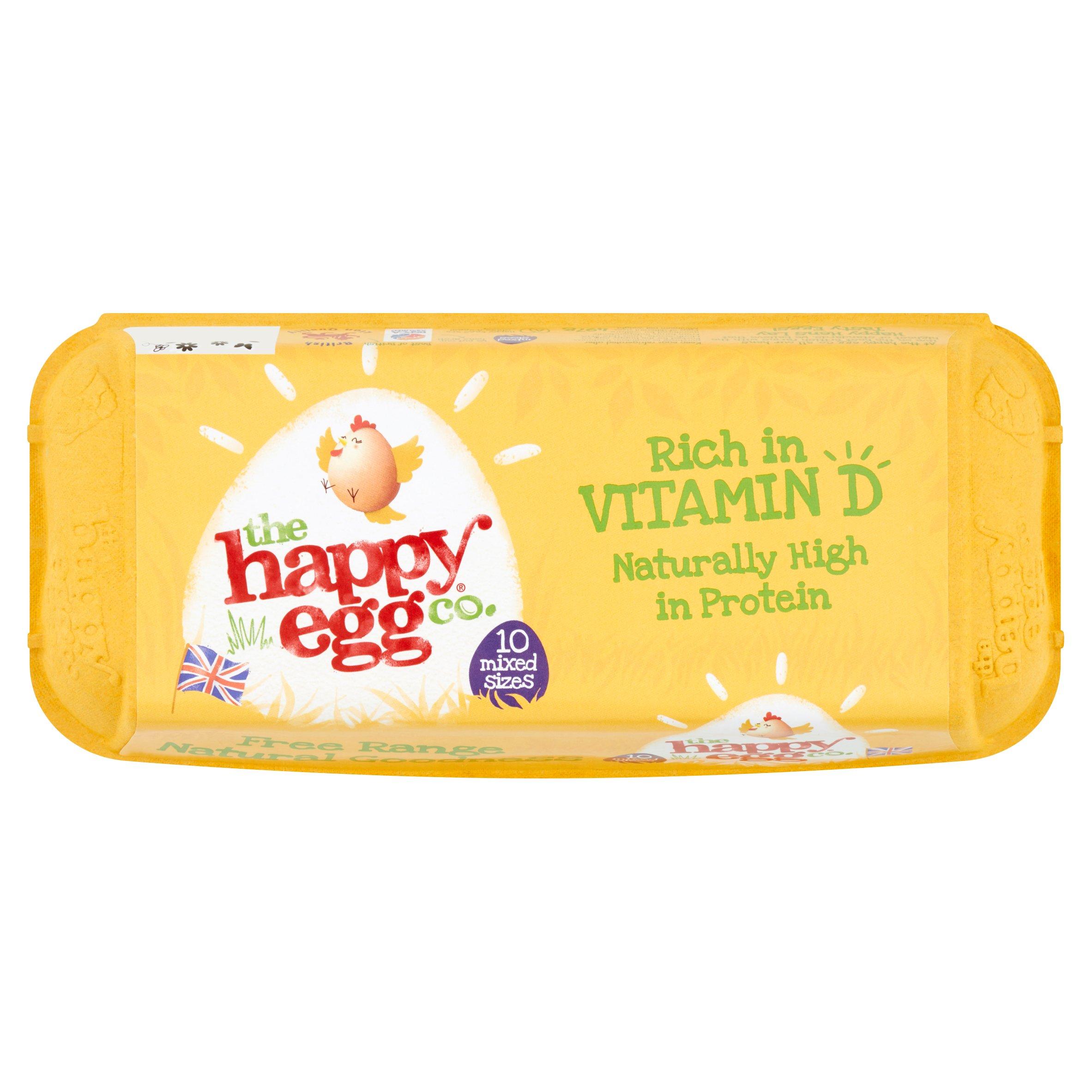 Happy Egg Co. Free Range Eggs 10 Mixed Weight