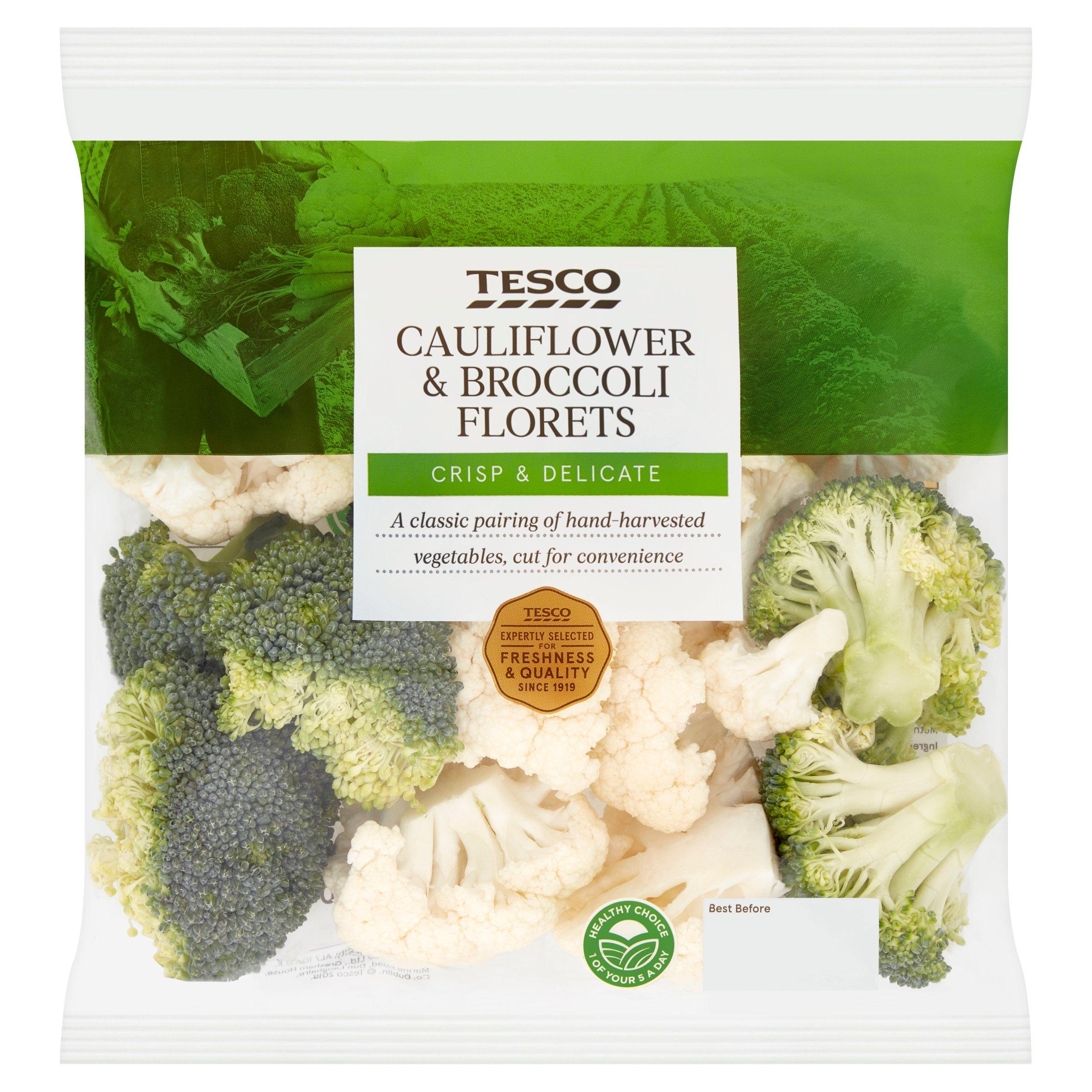 Tesco Cauliflower & Brocolli Florets 400G (M)