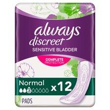 image 1 of Always Discreet Normal Bladder Weakness Pads 12 Pack