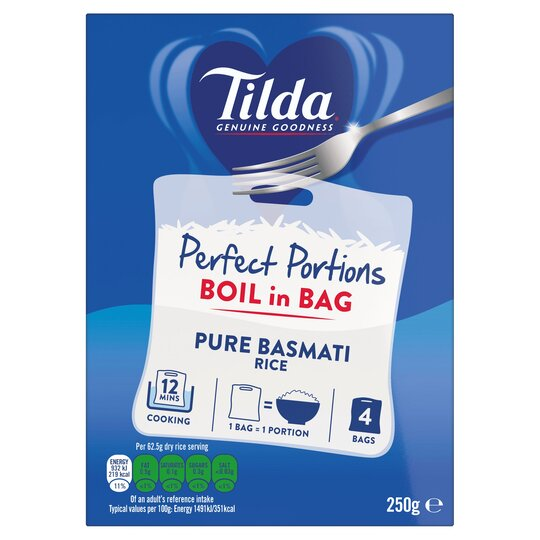 Tilda Boil In Bag Basmati Rice 4 X 62.5G