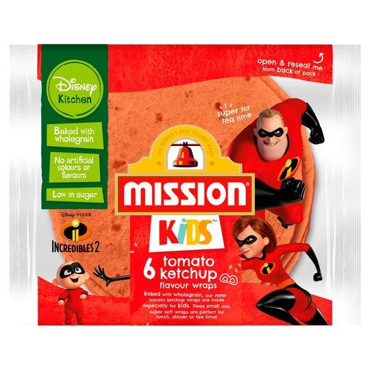 Mission Kids Disney 6 Tomato Ketchup Wraps 186G