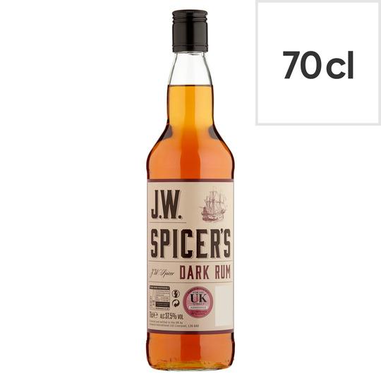 J.W Spicer Dark Rum 70Cl
