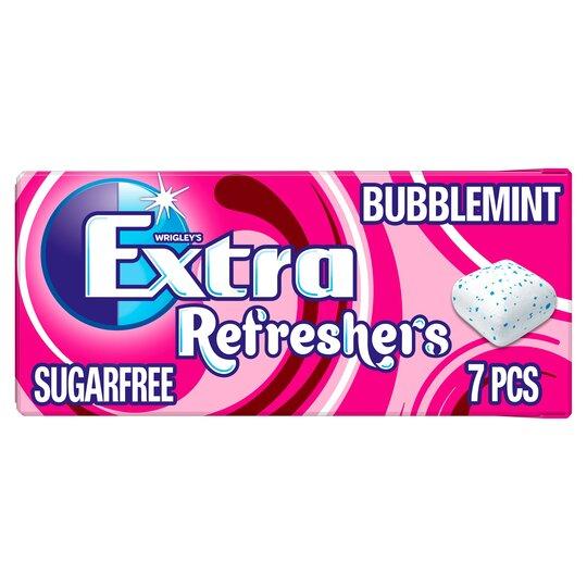 Wrigleys Extra Refresher's Gum Bubblemint 7Pce