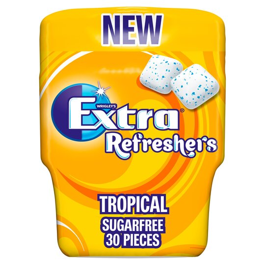 image 1 of Wrigleys Extra Refreshers Tropical Chewing Gum 67G
