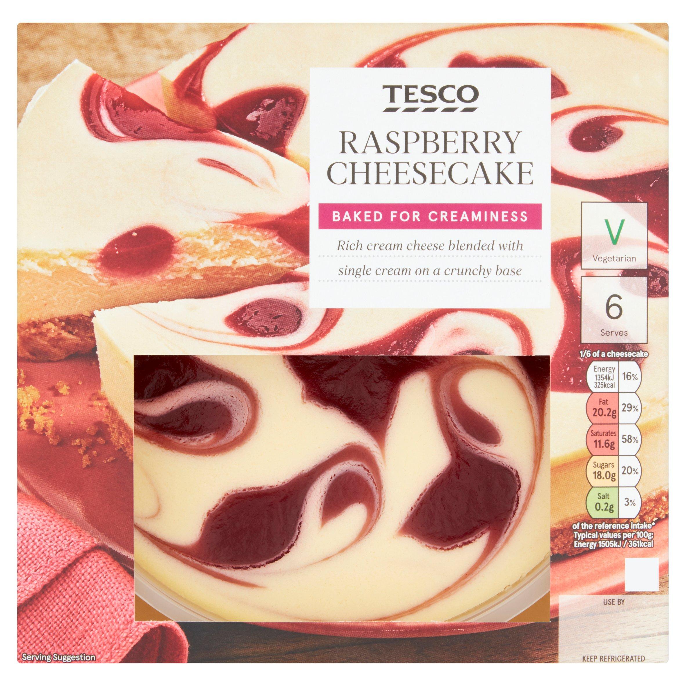 Tesco Raspberry Cheesecake 540G