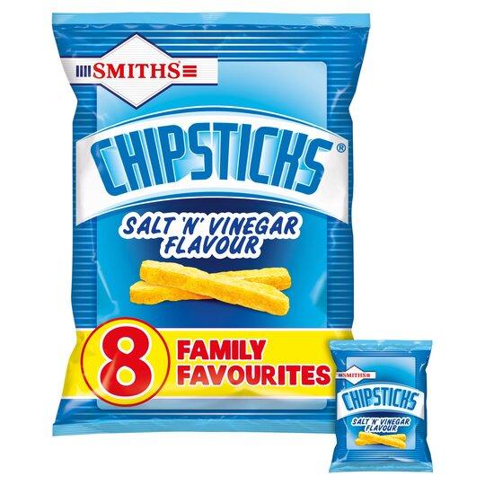 image 1 of Smith's Chipsticks Salt & Vinegar 8 Pack