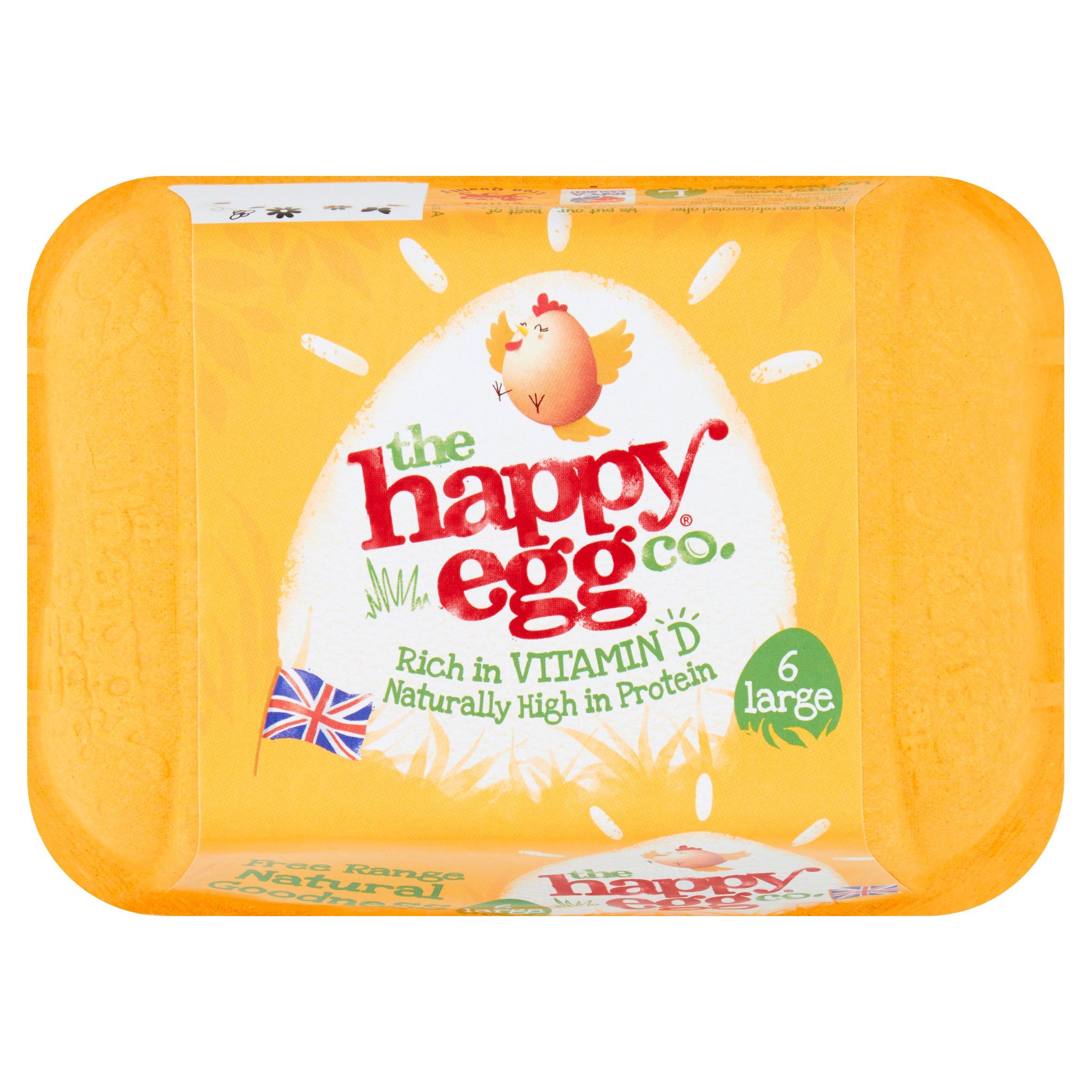 Happy Egg Co Large Free Range Eggs 6 Pack