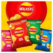 image 4 of Walkers Salt & Vinegar Crisps 6X25g