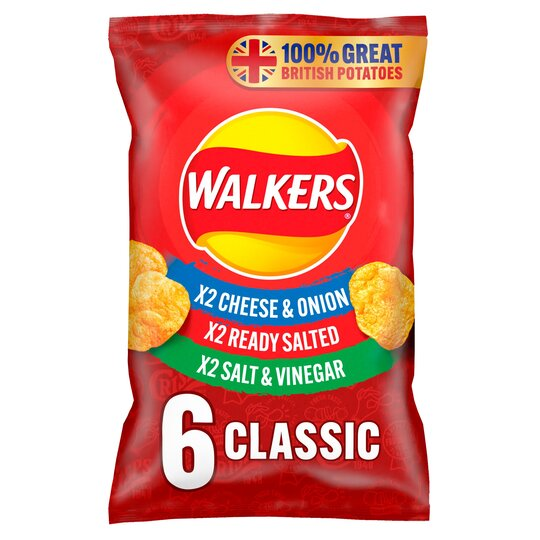 image 1 of Walkers Variety Crisps 6X25g