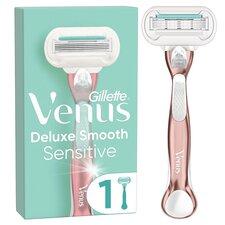 image 1 of Gillette Venus Deluxe Smooth Sensitive Rose Gold Razor