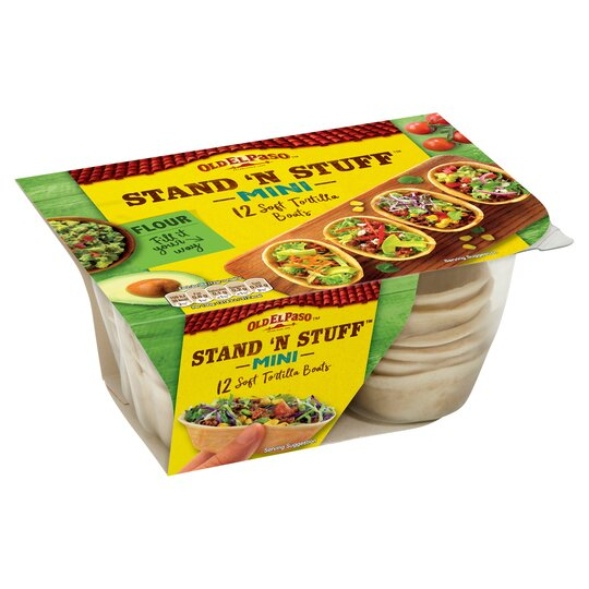 Old El Paso Mini Stand 'N' Stuff Soft Flour Tortillas 145G