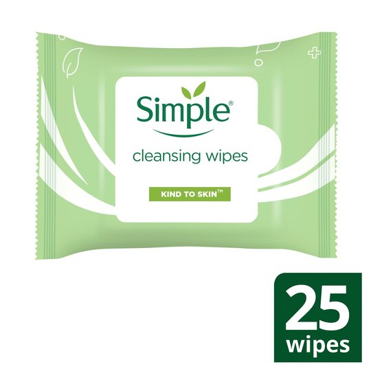 image 1 of Simple Kind To Skin Cleansing Facial Wipes 25'S