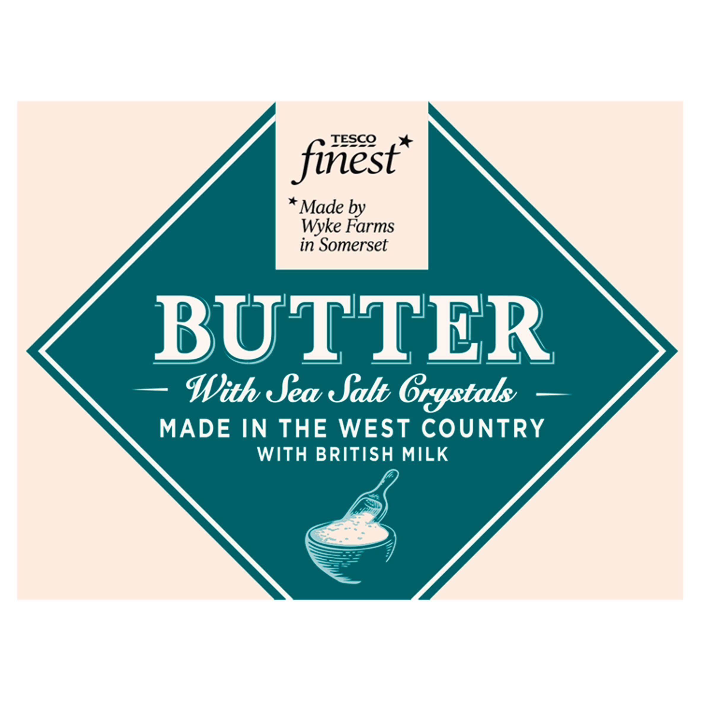 Tesco Finest West Country Butter & Sea Salt 250G