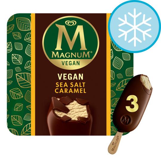 image 1 of Magnum Vegan Sea Salt Caramel Ice Cream 3 X 90Ml