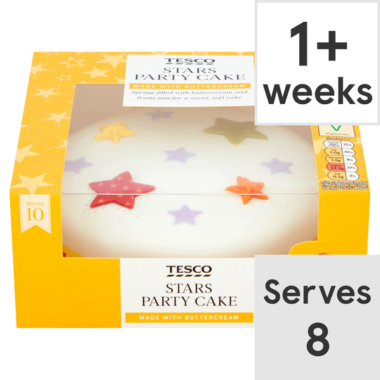Brilliant Tesco Stars Party Cake Tesco Groceries Funny Birthday Cards Online Eattedamsfinfo