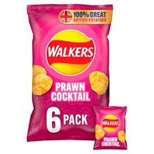 image 1 of Walkers Prawn Cocktail Crisps 6X25g