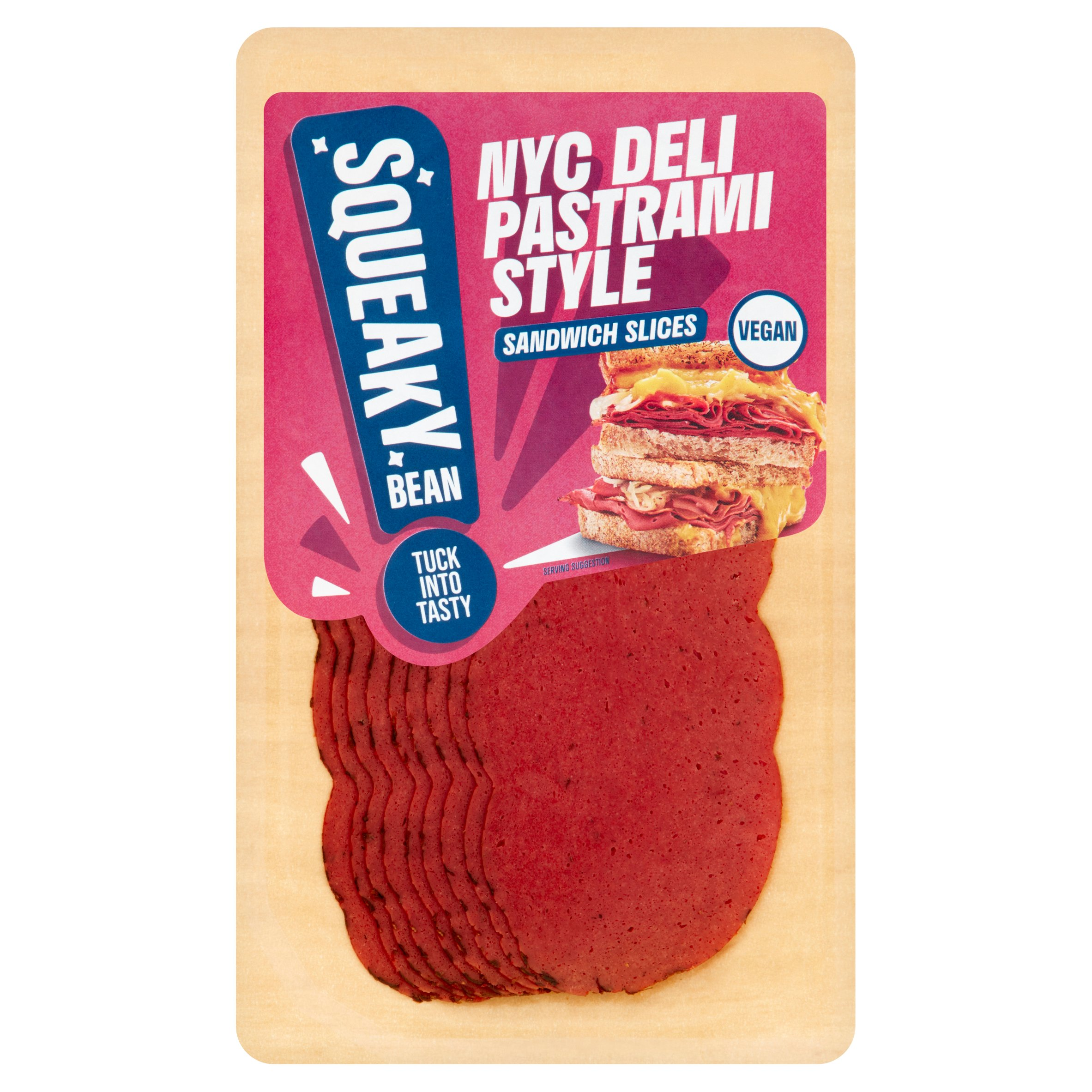 Squeaky Bean Ready To Eat Deli Pastrami Sandwich Slice 90G