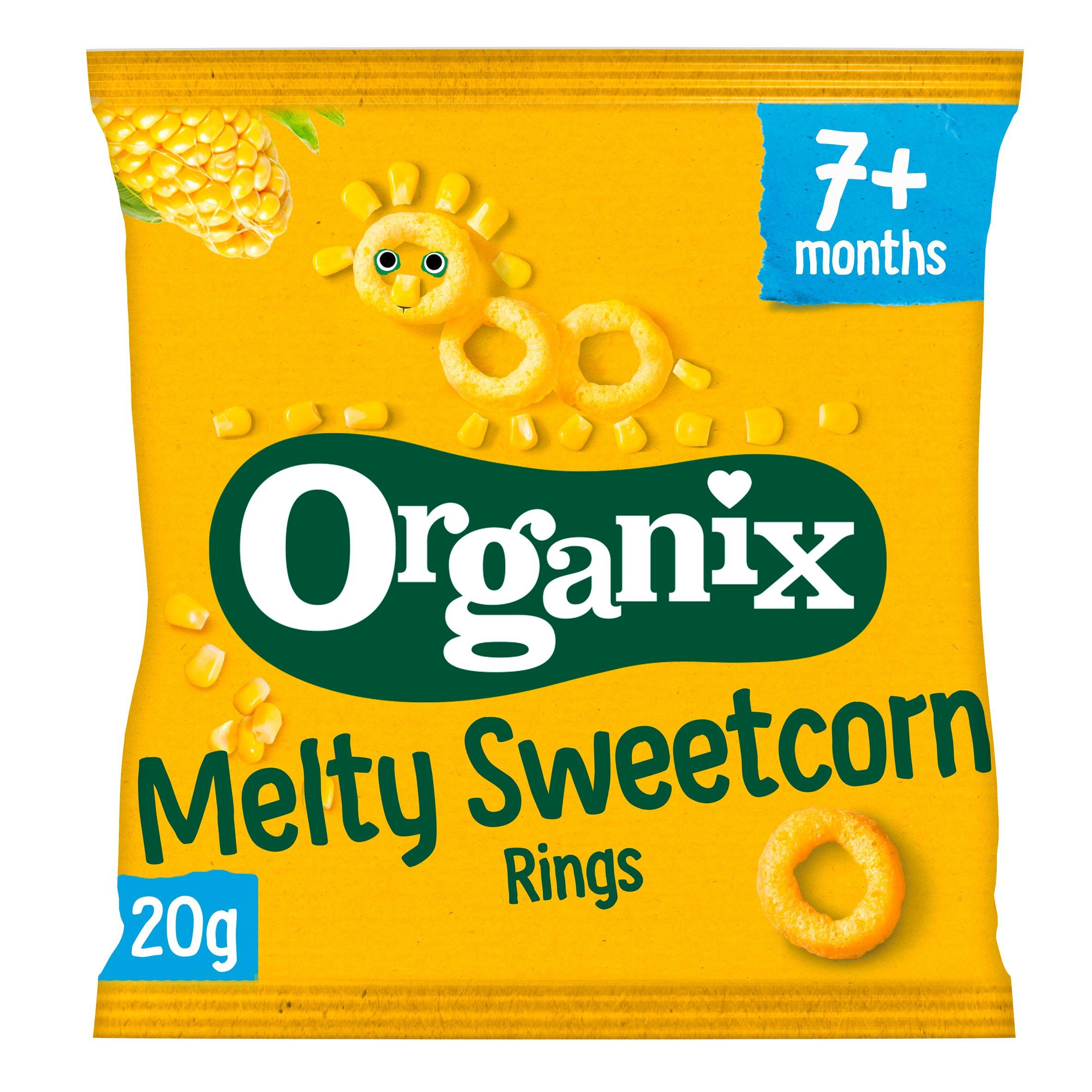 Organix Melty Sweetcorn Rings 20G
