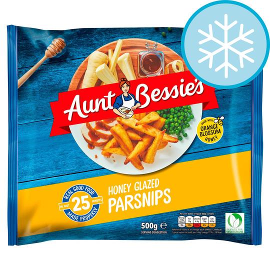 Aunt Bessies Roast Parsnips Honey Glazed 500G