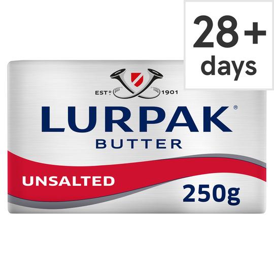 Lurpak Unsalted Block Butter 250G