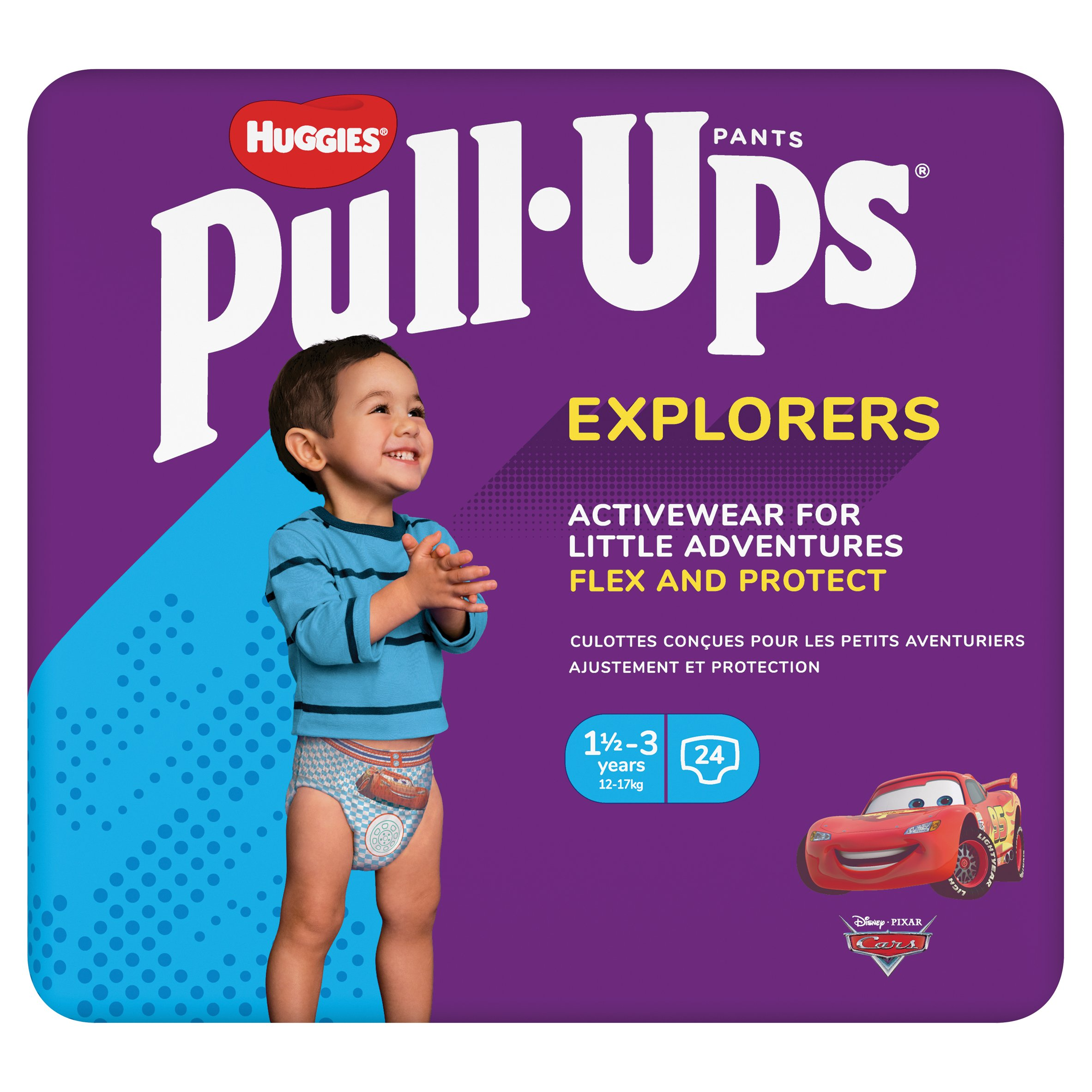 Huggies Pull-Ups Explorers 1.5-3 Years Blue 24 Pack