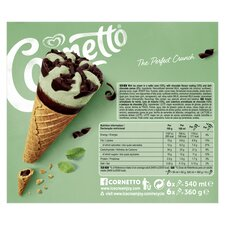 image 3 of Cornetto Mint Ice Cream Cones 6 X 90Ml