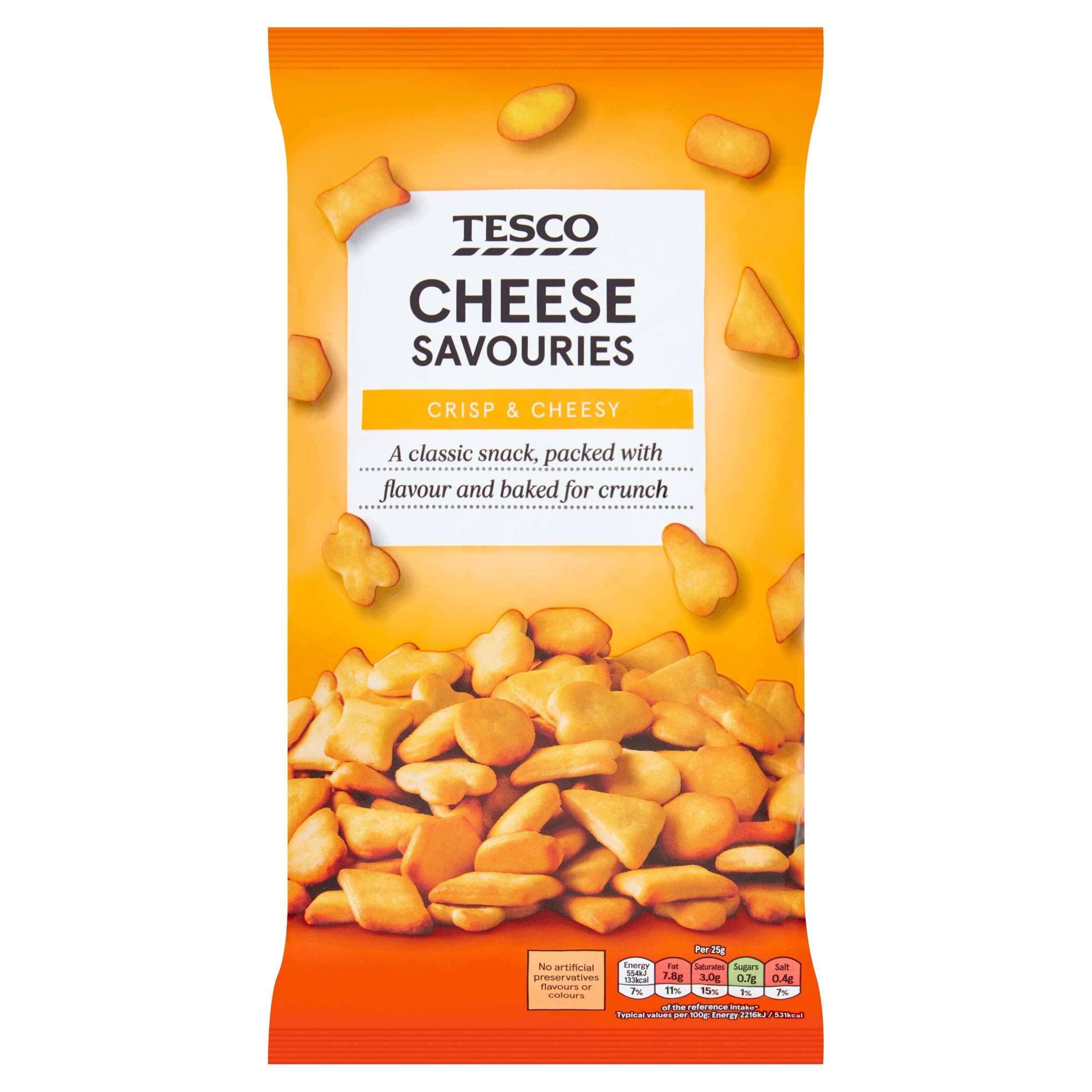 Tesco Cheese Savouries Snacks 250G