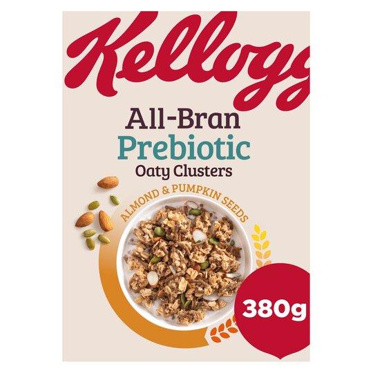 Kellogs All Bran Oaty Clusters Almond & Pumpkin Seeds 380G