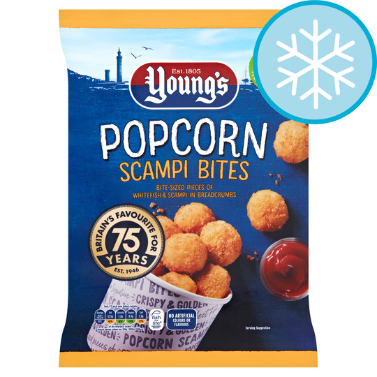 Youngs Popcorn Scampi Bites 300G