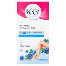 image 2 of Veet Sensitve Wax Strips 40 Pack