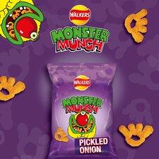 image 4 of Walkers Monster Munch Variety Snacks 12 X 22G