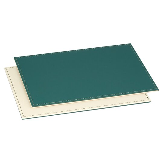 Tesco Faux Leather Sea Green Placemat 4 Pack Tesco Groceries