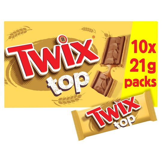 Twix Top 10 Pack 210G - Tesco Groceries