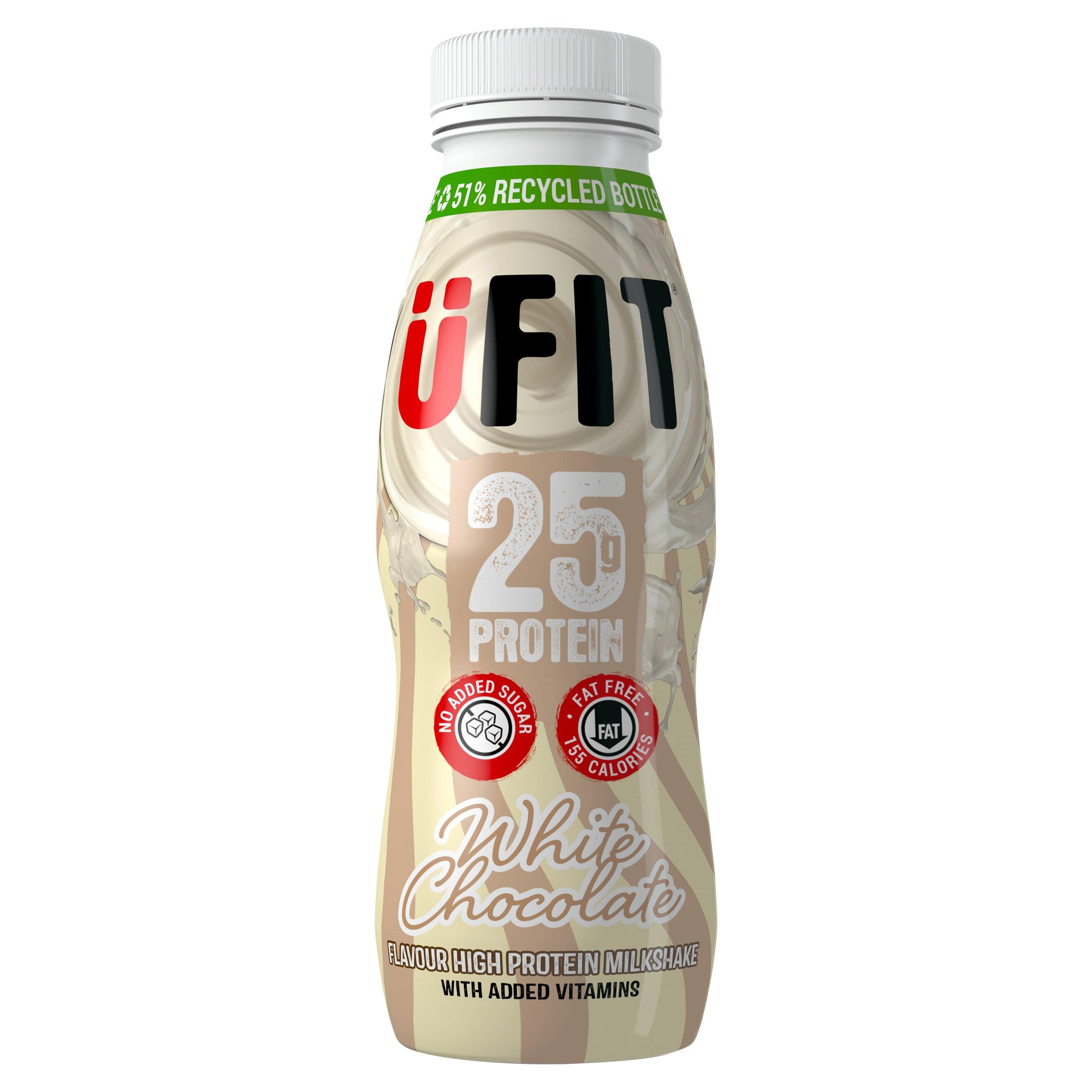 Ufit High Protein Milkshake White Chocolate Flavoured 330Ml