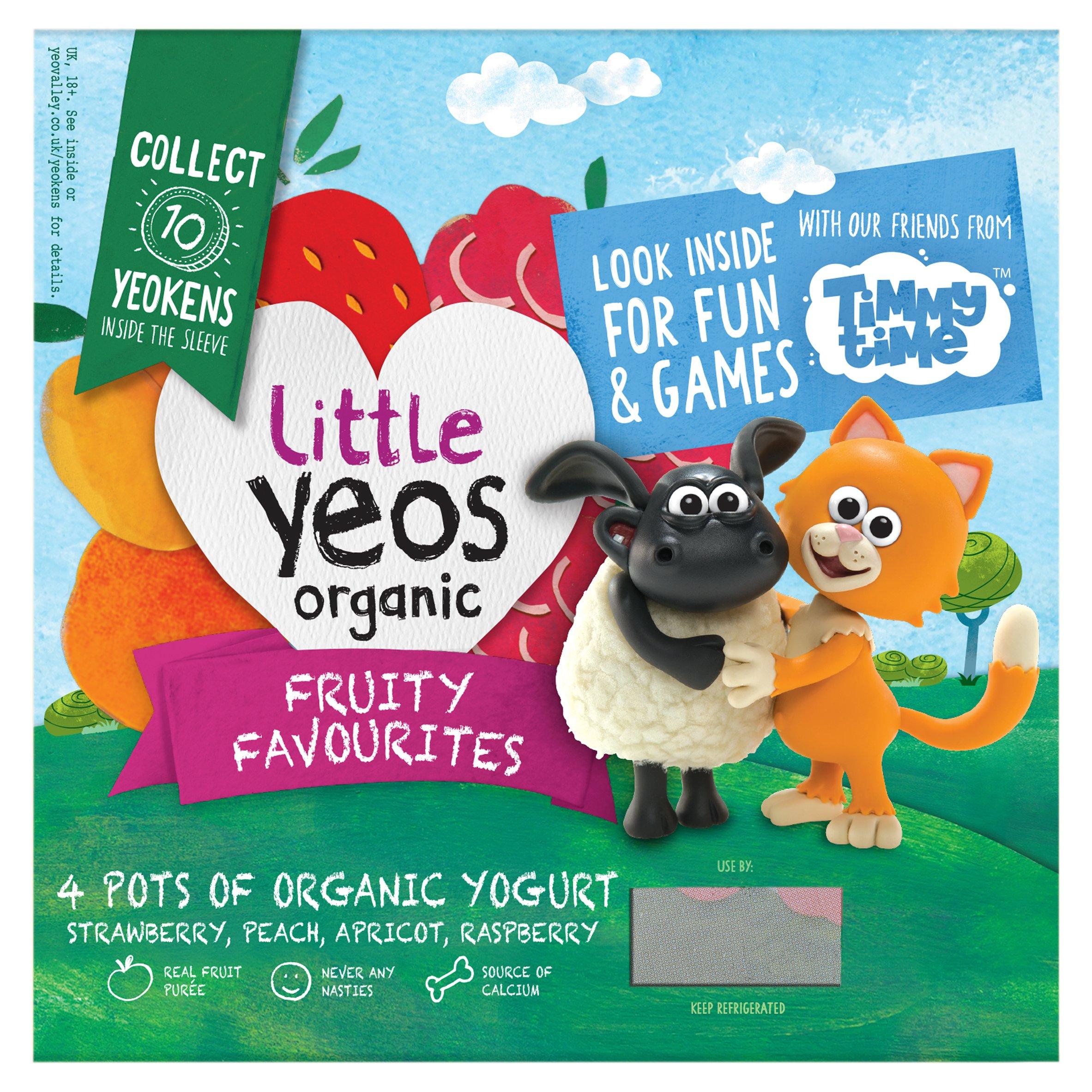 Yeo Valley Organic Little Yeos Yogurt 4X90g