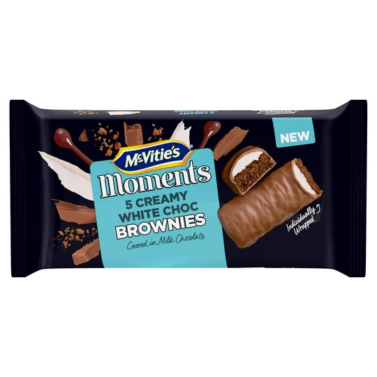 image 1 of Mcvitie Moments White Chocolate Cream Brownies 5 Pack