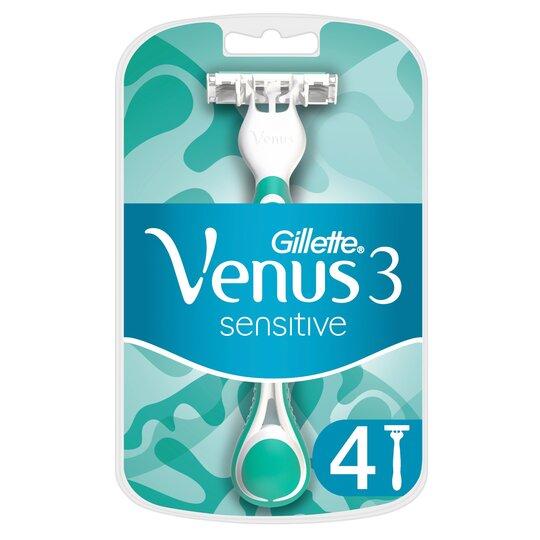 image 1 of Gillette Venus 3 Sensitive Razor Blades 4 Pack