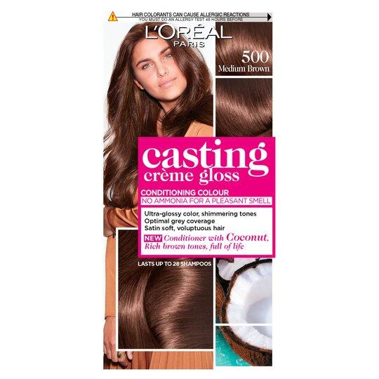 image 1 of L'oreal Casting Creme Gloss Medium Brown 500 Semi-Permanent Hair Dye