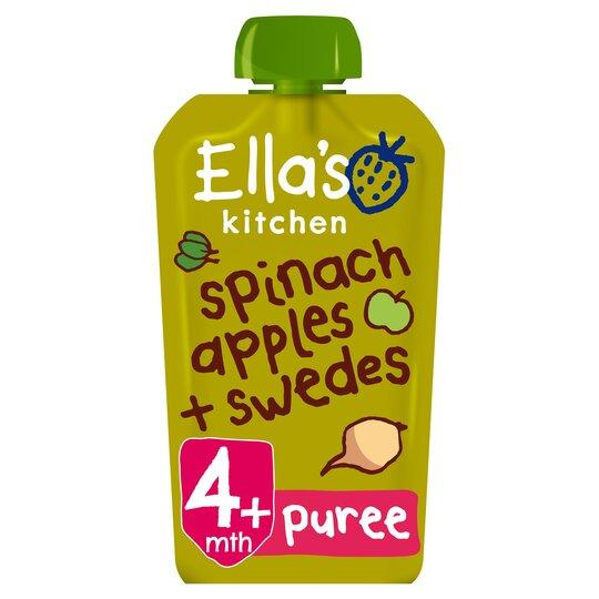 Ella's Kitchen Spinach Apple Plus Swede Stage 120G