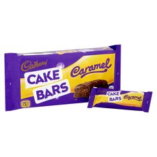 image 2 of Cadbury Caramel Cake Bars 5 Pack