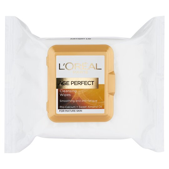 image 1 of L'oreal Paris Age Perfect Cleansing Wipes 25