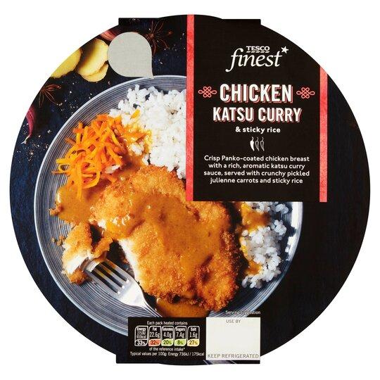 Tesco Finest Chicken Katsu Curry Sticky Rice 400g Tesco