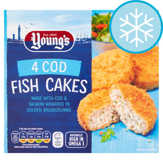 Youngs 4 Breaded Cod Fishcakes 200G