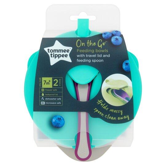 Tommee Tippee Explora Easy Scoop Feeding 2 Bowls & 1 Lid