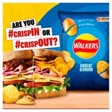 image 2 of Walkers Cheese & Onion Crisps 6X25g