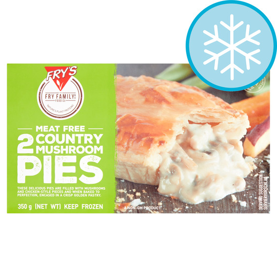 Fry's Meat Free 2 Country Mushroom Pies 350G