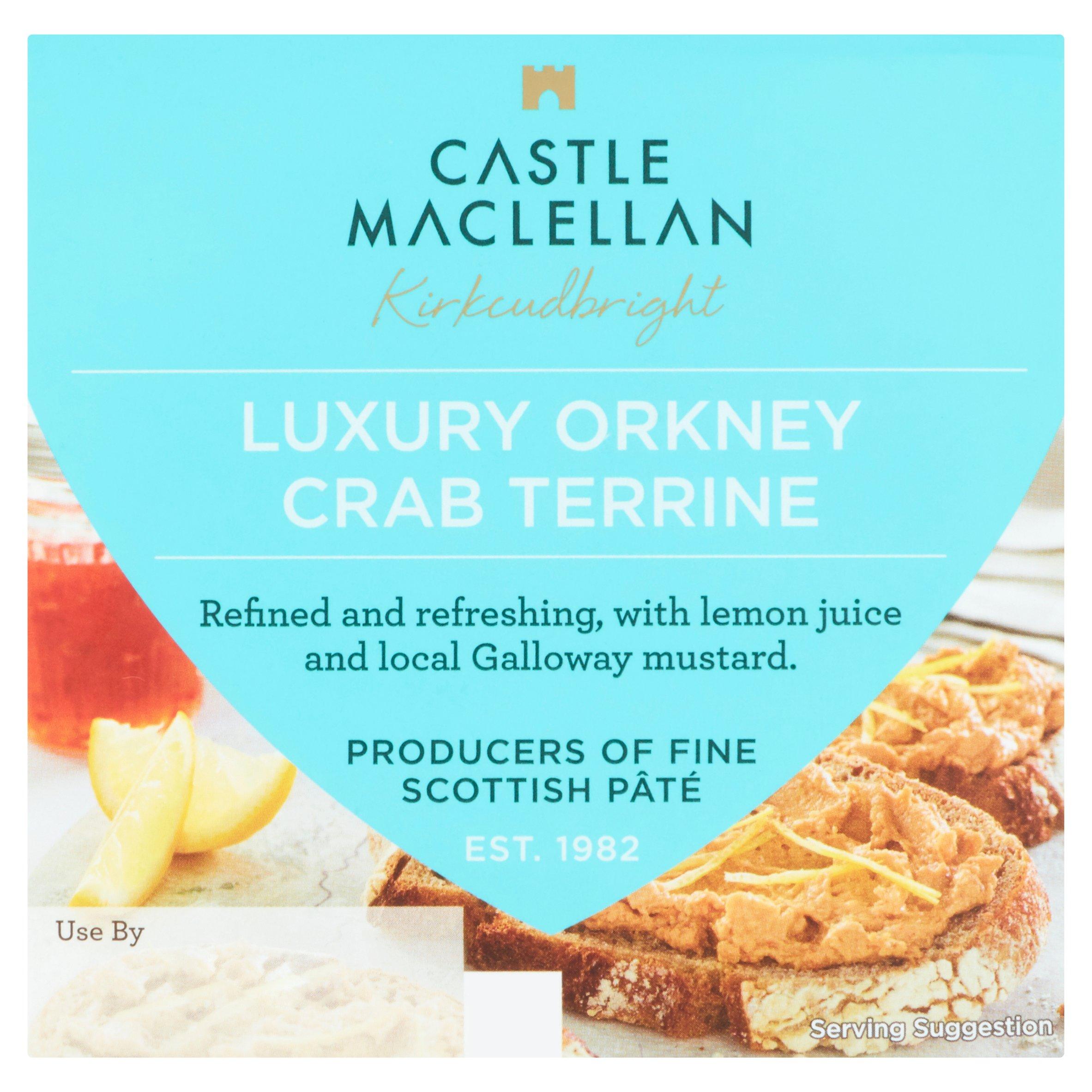 Castle Maclellan Luxury Orkney Crab Terrine 100G