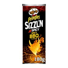 image 1 of Pringles Sizzl'n Spicy Bbq Crisps 180G
