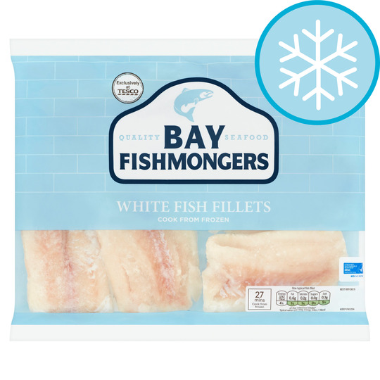 Bay Fishmongers White Fish Fillets 520g Tesco Groceries