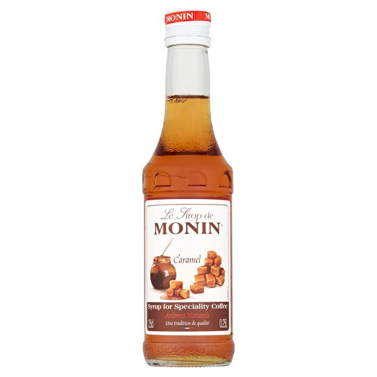 Monin Caramel Syrup 250ml Tesco Groceries